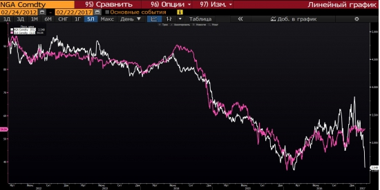 Обрушение цен на газ. Предвестие ли для нефти ?
