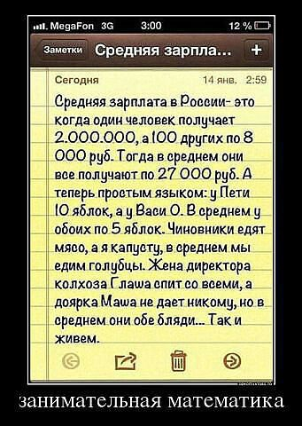 Ежели кто не видел ))) Средние показатели