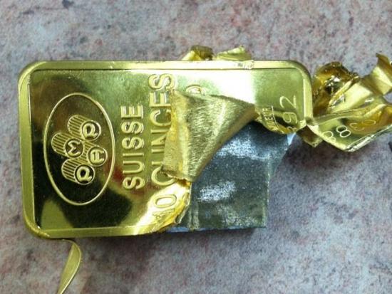 Поддельные золотые слитки из вольфрама обнаружены на Манхэттене (перепечатка http://investcafe.ru))