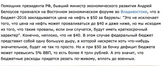 50 долларов за баррель нефти станут приговором бюджету РФ