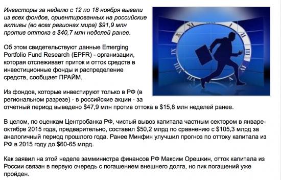 Отток капитала из инвестирующих в РФ фондов усилился вдвое