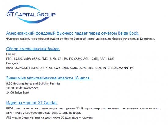 Обзор фондового рынка США на 18 июля