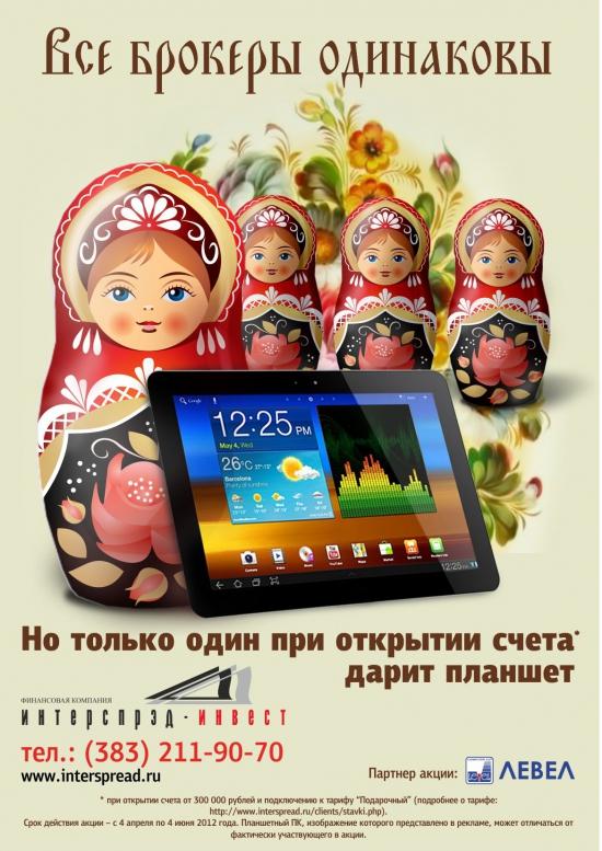 13.04.2012 - РИ, СИ, Сбербанк, Газпром. Горизонтальные объемы.