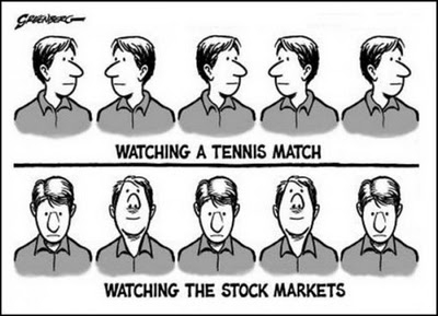 Одни смотрят теннис, другие следят за рынком...