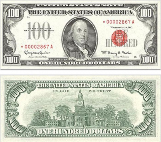 Как с годами изменялась купюра в 100 долларов