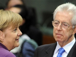 Канцлер Германии Меркель встретится с премьер-министром Италии Монти в Риме