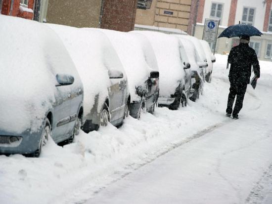 На США обрушился снегопад