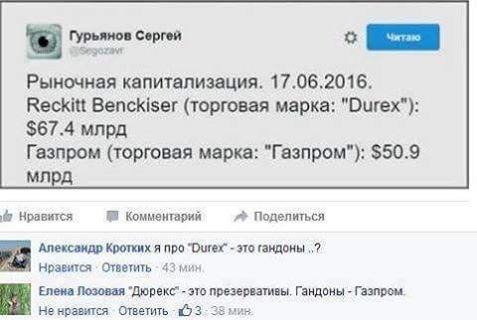 Газпром и Дюрекс