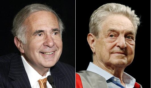 Джордж Сорос и Карл Айкан против управляющего хедж-фонда Pershing Square Билла Акмана