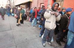 США: 15% населения живут за чертой бедности