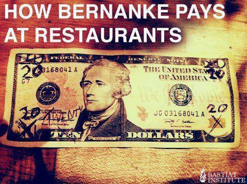 Как Бернанке платит в ресторанах