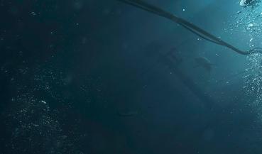 Ниточки,  скрытые под водой