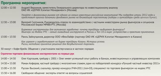 """Открытый мастер-класс в Казани """"Фондовый рынок - лично ваш успех"""""""