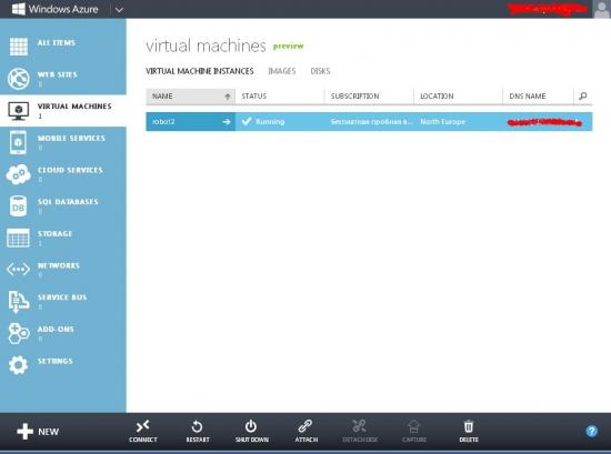 Облачная платформа WindowsAzure для роботизированной торговли