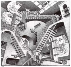 M. C. Escher Relativity, 1953