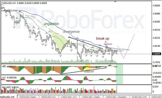 RoboForex: анализ индикаторов Б. Вильямса для USD/CAD и NZD/USD на 31.05.2013
