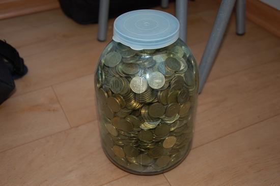 Накопили  много денег))) железных)))