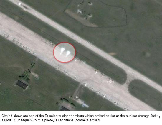 Россия перебросила 30 бомбардировщиков в воронеж