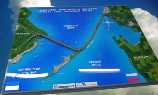 Медведев распорядился строить мост через Керченский пролив.