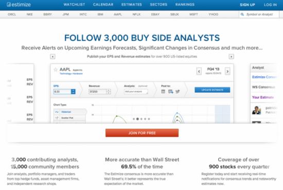 Estimize - один из самых интересных стартапов 2013 года для биржевых трейдеров