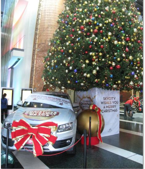 Интересно, кто-нибудь из форумчан нашел у себя под елкой в новогоднюю ночь такой подарок?   Главная ёлка Окленда.Новая Зеландия