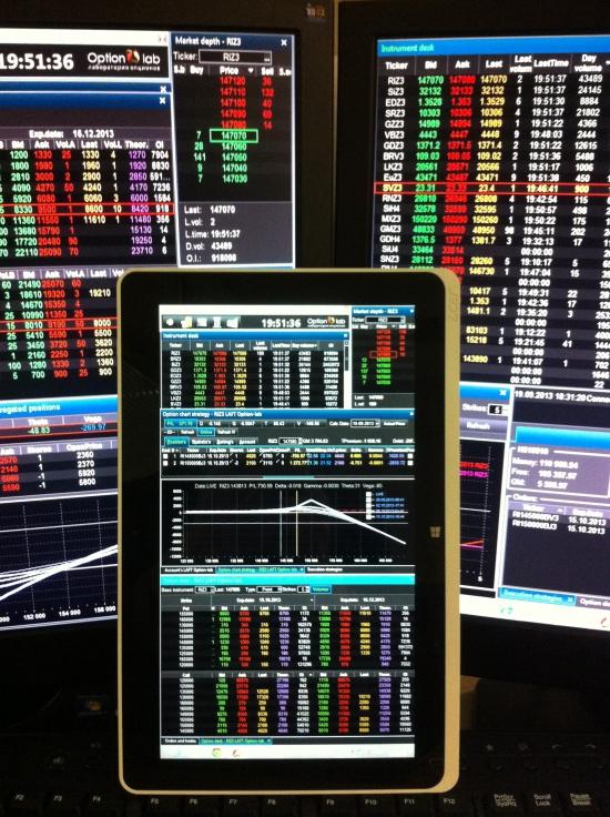 Отчет.Торговый Option-lab на планшете win 8
