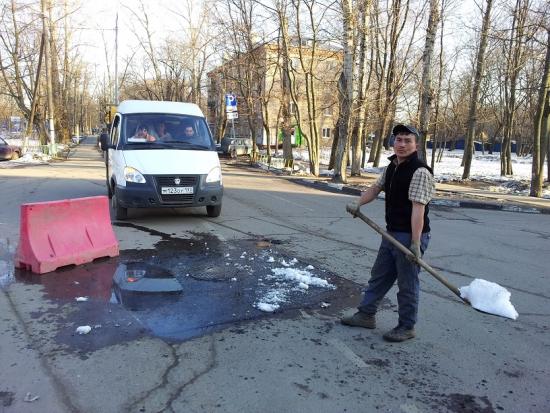 офтоп, Как кладут асфальт в Москве