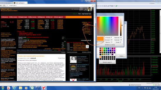 Настройка графиков в цвета Сматр-лаба