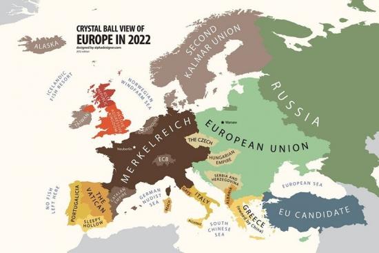 Карта Европы в 2022