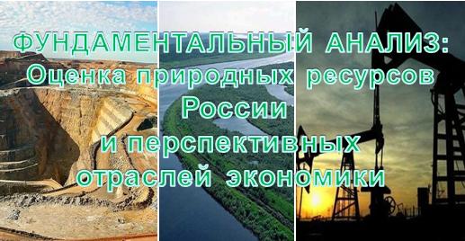 Фундаментальный анализ - оценка ресурсов России и отраслей