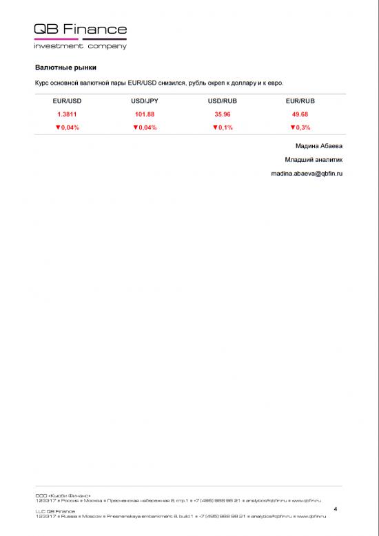 - 15.04.14 - Ежедневный обзор фондовых рынков
