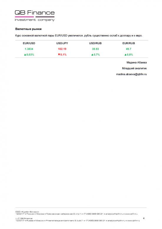- 25.04.14 - Ежедневный обзор фондовых рынков