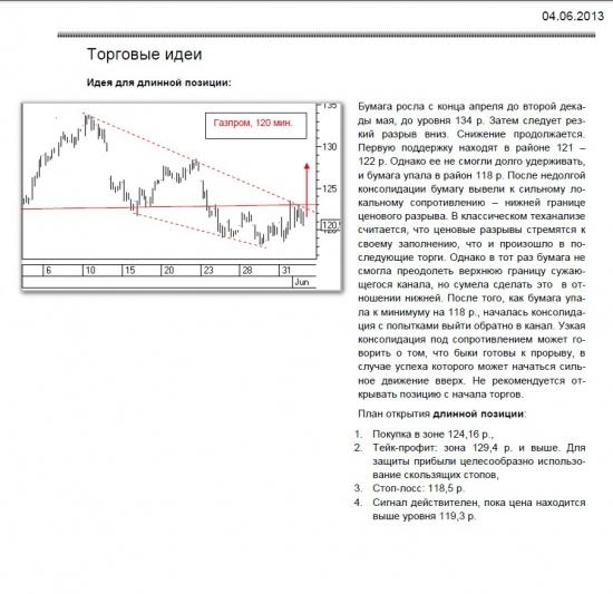 обзор акции Газпром