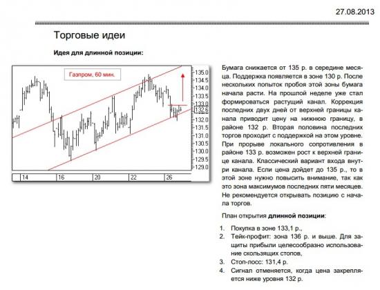 рекомендация по Газпрому