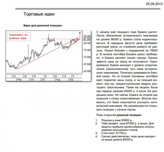 Рекомендация по транснефти