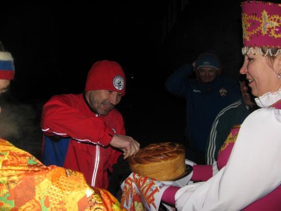 село Северное (Башкирия), традиционное хлеб да соль