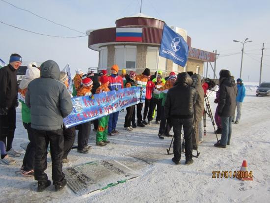 Уфа встреча с местными моржами, ТВ и прессой