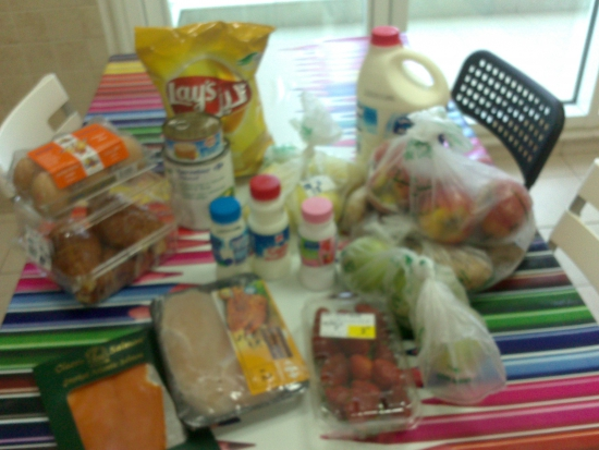Набор продуктов в Дубай.