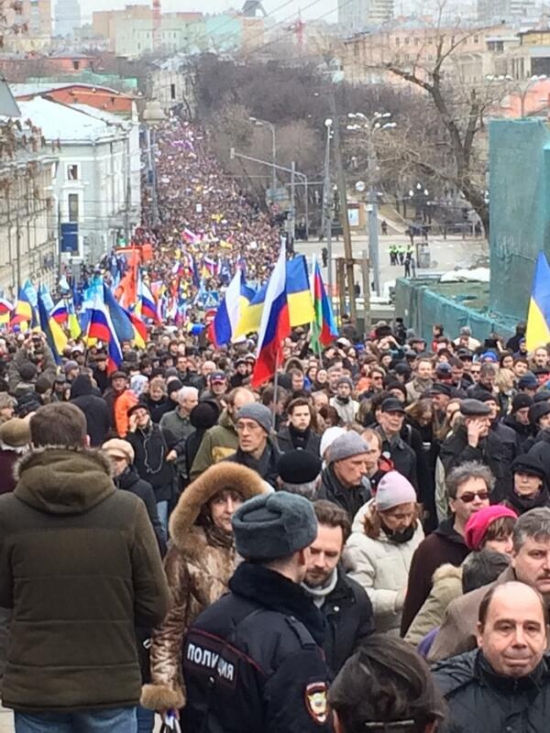 """""""Марш мира"""" в Москве собрал 50 тысяч человек"""