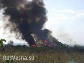 В Краматорске взорвался вертолет оккупантов с полным боекомплектом
