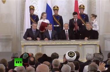 ПОЗДРАВЛЯЮ С ПОБЕДОЙ !!!!!!!        Путин подписал договор о принятии Крыма в состав РФ.