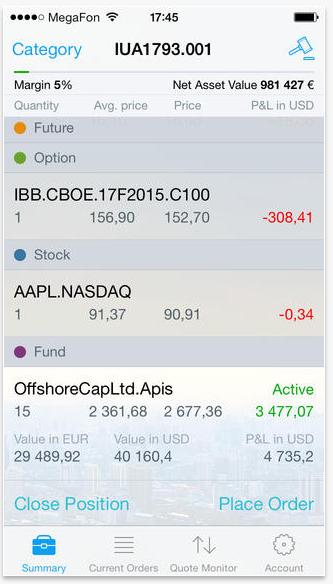 EXANTE запустило приложение для iPhone