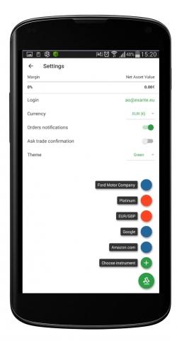 Новые цвета и более удобное управление в приложении EXANTE для Android