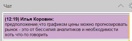 Илья Коровин о техническом анализе =)