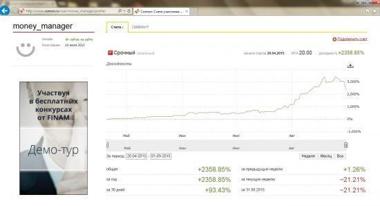 Системная торговля Ri-Si. АВГУСТ +93%