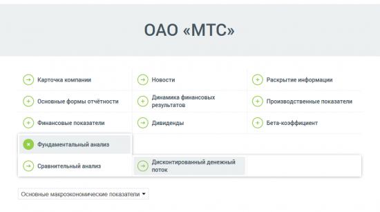 Посчитали дисконтированный денежный поток (DCF) ОАО «МТС»