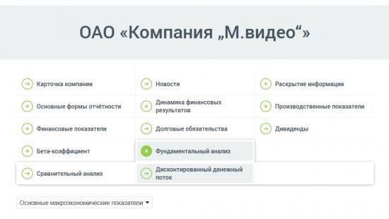 """Посчитали дисконтированный денежный поток (DCF) ОАО «Компания """"М.видео""""»"""