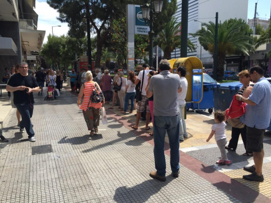 Греческие банкоматы закрываются из-за недостатка средств