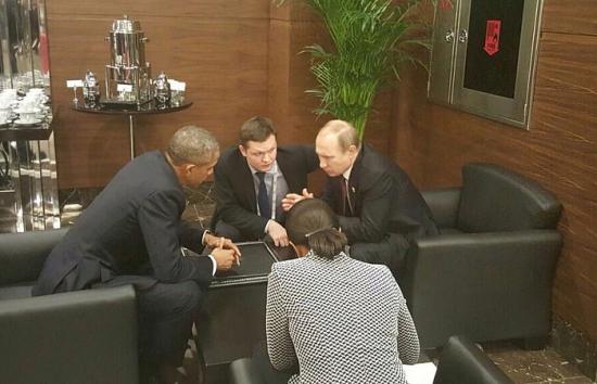 Путин и Обама поговорили один на один перед началом саммита «двадцатки»