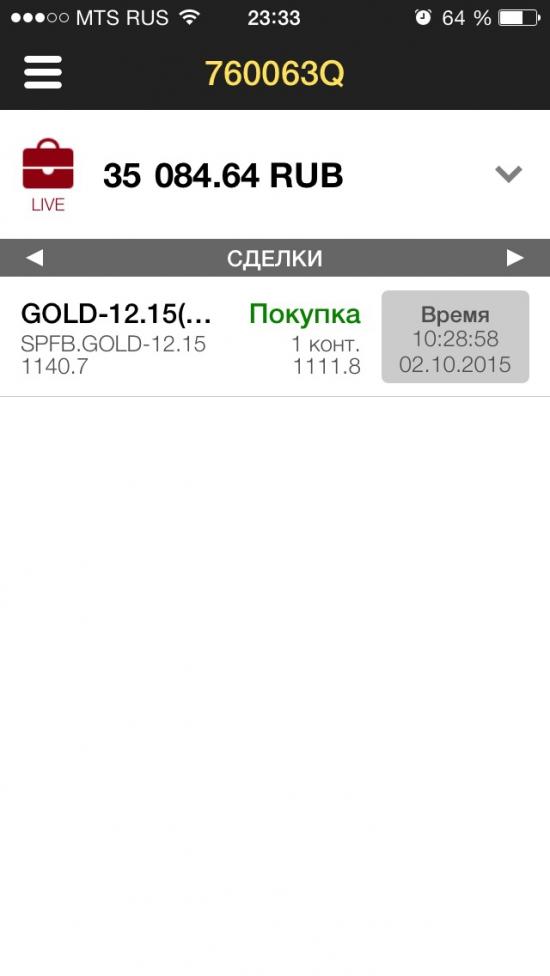 Купил утром золото - цель 1800!